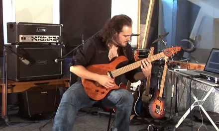 Alex Hutchings with the great Boss GT-100