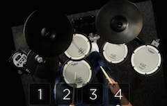 Learn some basic drum patterns with a master drummer