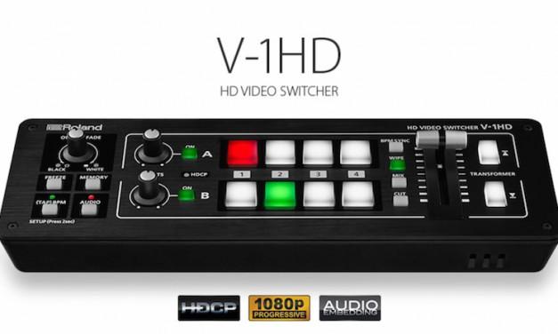 Roland's new V-1HD HD video switcher