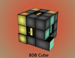 The TR-808 meets the Rubik's cube!