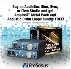 Buy a PreSonus iSeries and get a 'metal pack' and drum loops FREE!