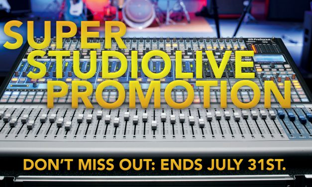 PreSonus console mixers discounted until the end of July!