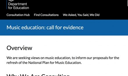 Please tell the Department for education what you think about music education in the uk today